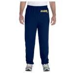 Navy Unisex Gildan Fleece Pants Left