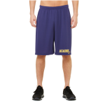 Navy Unisex Sport Mesh Short Left