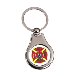 Metal Keychain with Red Knights Offical Crest