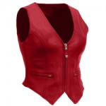 Women's Casual Leather Vest