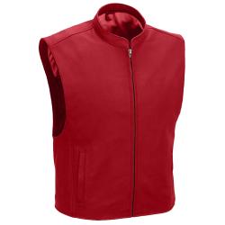 Men's Mandarin Collar Leather Vest