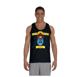 Black Unisex Ultra Cotton Tank Center