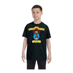 Black Youth Cotton Heavy T-Shirt Center