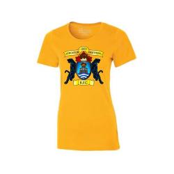 Gold Ladies Eurospun T-Shirt Center