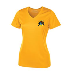 Gold Ladies' Short Sleeve Performance Shirt