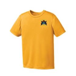 Gold Youth Short Sleeve Eurospun Performance T-Shirt